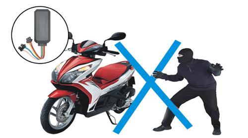 lắp thiết bị định vị xe máy